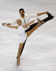 Savchenko and Szolkowy of Germany perform at the European Figure Skating Championships in Tallinn