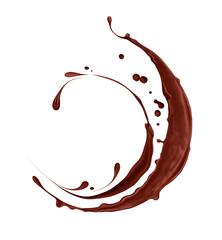 chocolate splashes isolated on white background
