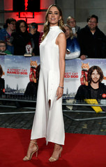 """Ruta Gedmintas poses as she arrives for the world premiere of """"A Street Cat Named Bob"""" at The Curzon Mayfair in London"""