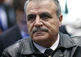 Member of the HNC Al-Zoubi attends a news conference aside of Syria peace talks in Geneva