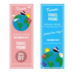 travel promo vertical banner