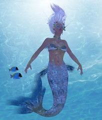 Mermaid Nadja - A mermaid is a fantasy creature from folklore and myth that has a fish tail and a woman's upper body.