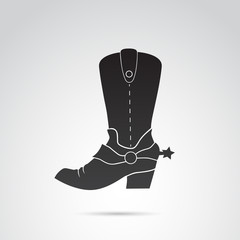 Country, cowboy shoes vector icon.