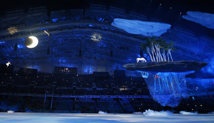 A scene from the opening ceremony of the 2014 Sochi Winter Olympics