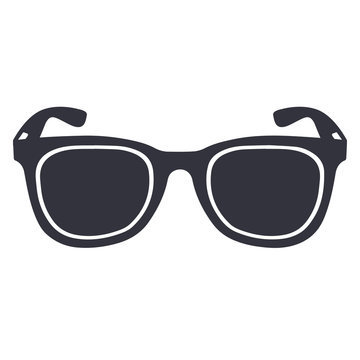 Isolated sunglasses silhouette