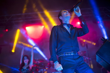"""Farrell of Jane's Addiction performs at the party following the premiere of """"Entourage"""" in Los Angeles"""