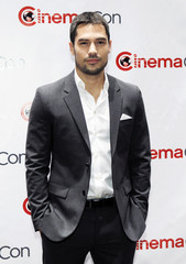 D.J. Cotrona arrives for an opening night gala during CinemaCon at Caesars Palace in Las Vegas