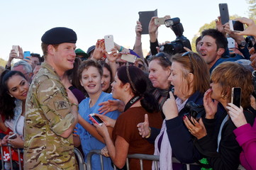 Britain's Prince Harry meets wellwishers during a visit to Sydney's Opera House in Australia