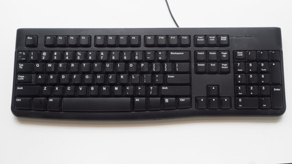Canvas Print - keyboard on white background