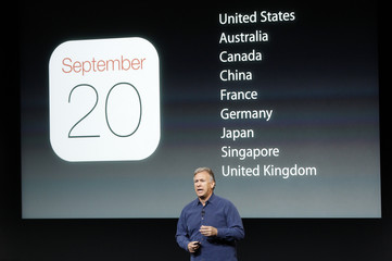 Phil Schiller, senior vice president of worldwide marketing for Apple Inc, talks about the availability of their new products at Apple Inc's media event in Cupertino