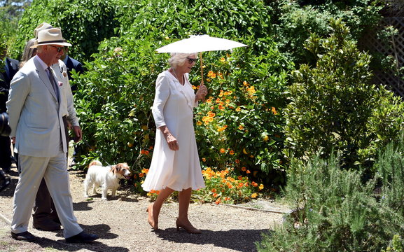 Britain's Prince Charles and Camilla the Duchess of Cornwall visit Oranje Tractor Wines to sample some of the wine and local produce in Albany, Western Australia