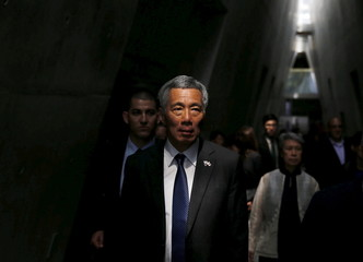 Singapore's Prime Minister Lee Hsien Loong visits the Yad Vashem Holocaust History Museum in Jerusalem