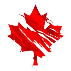 grange line Canada maples leaf