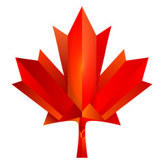 modern polygon Canada maples leaf