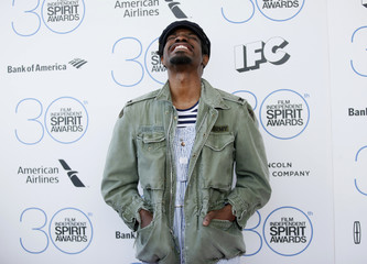 """Actor and musician Andre """"3000"""" Benjamin arrives at the 2015 Film Independent Spirit Awards in Santa Monica"""