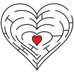 Symbolic labyrinth heart