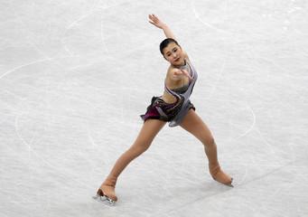 Japan's Kanako Murakami competes during the women's short program at the ISU World Figure Skating Championships in Saitama