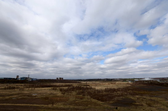The Ravenscraig steel site is seen in the foreground and the Dalzell steel plant in the background