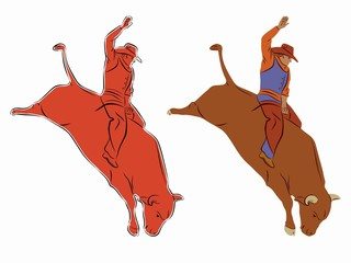 rodeo illustration . vector drawing