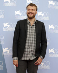 """Actor Asbaek poses during the photocall of the movie """"Kapringen"""" at the 69th Venice Film Festival"""