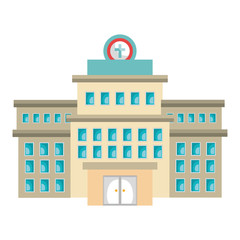 hospital building isolated icon vector illustration design