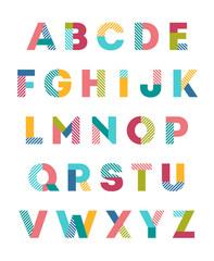 Colorful alphabet vector design