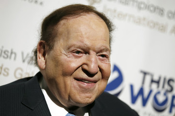 Las Vegas gaming tycoon Sheldon Adelson attends the second Annual Champions of Jewish Values International Awards Gala in New York