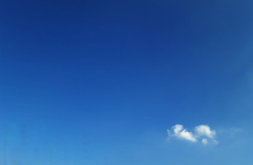 Backgroud of clear blue sky and soft tiny clouds with text space