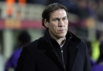 AS Roma's coach Rudy Garcia looks on before their Europa League round of 16 first leg soccer match against Fiorentina at the Artemio Franchi stadium in Florence