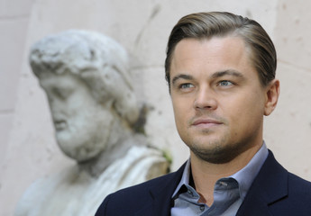 """U.S. actor Leonardo DiCaprio attends a news conference to promote his new film """"Shutter Island"""" in Rome"""