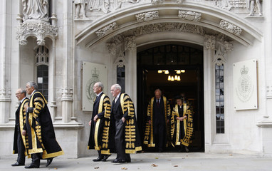 File photo of Justices of the Supreme Court leaving the new Supreme Court of the United Kingdom in London