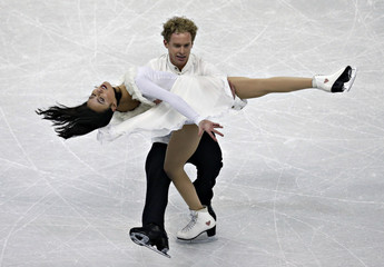 Chock and Bates compete during the free dance at the U.S. Figure Skating Championships in Omaha, Nebraska