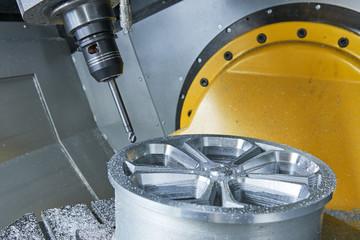 cutting tool at metal machining working at CNC machine