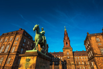 Foto op Canvas Verenigde Staten Equestrian statue of King Christian the 9th Copenhagen Denmark