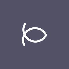 Christianity fish icon