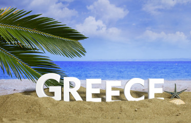 Summer vacations in Greece. 3d illustration
