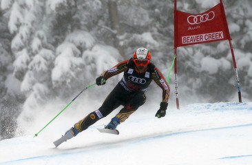 Jan Hudec of Canda skis to seventh place during the Men's World Cup Downhill ski race in Beaver Creek