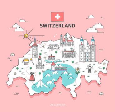 Switzerland Travel Landmark Collection