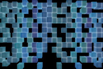 Abstract background from cubes, 3d illustration
