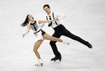 Hirai and De La Asuncion of Japan perform during the ice dance free dance program competition at the ISU Four Continents Figure Skating Championships in Seoul