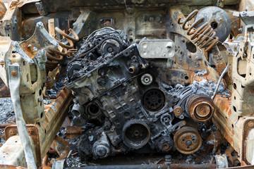 Burnt out car motor