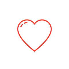 heart line icon, love outline vector logo illustration, linear pictogram isolated on white