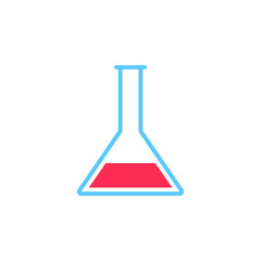 lab icon vector, flask solid logo illustration, colorful pictogram isolated on white