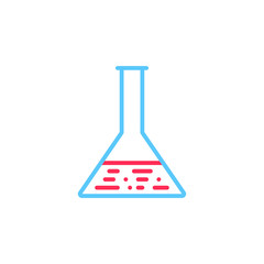 lab line icon, flask outline vector logo illustration, linear pictogram isolated on white
