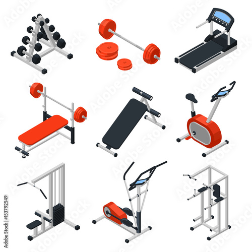 "Isometric Training Equipment: ""Gym Equipment Isometric Set"" Stock Image And Royalty-free"