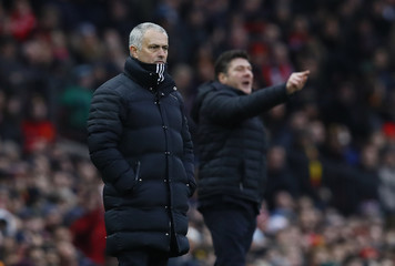 Manchester United manager Jose Mourinho and Watford manager Walter Mazzarri