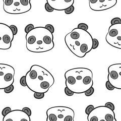 Cute head animal cartoon doodles