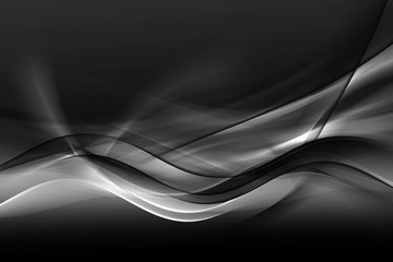 Photo sur Plexiglas Fractal waves Design trendy element for card, website, wallpaper, presentation. Greyscale modern bright waves art. Blurred pattern effect background. Abstract creative graphic template. Decorative business style.