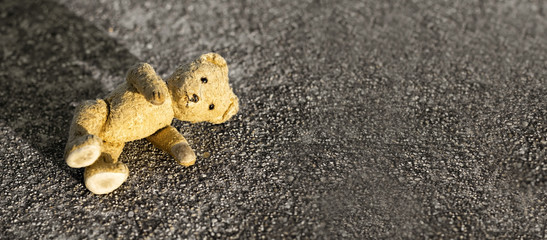 Children lost their toy on the ground