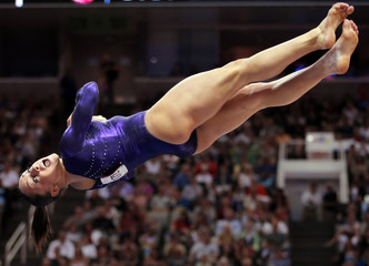 U.S. gymnast Jordyn Wieber performs her floor exercise at the U.S. Olympic gymnastics trials in San Jose
